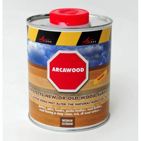 ARCAWOOD - Water repellent treatment of wood Does not alter the natural appearance of wood : teak, pine, oak, mahogany