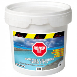 Cementitious waterproofing tanking resin based system for water reservoirs, vats, swimming pools,fountains