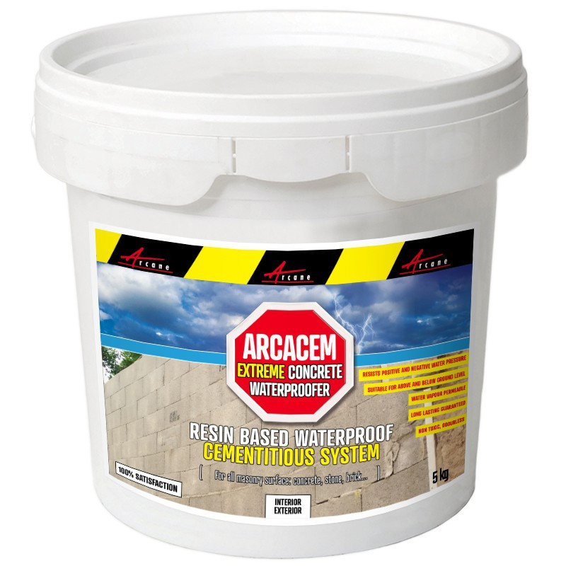 ARCACEM - Concrete waterproofer tanking slurry for all masonry surface