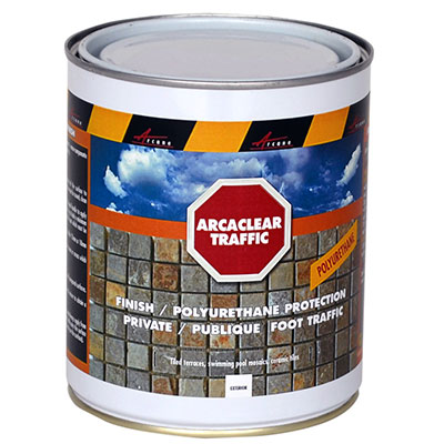 Protection and stop water ingress Arcaclear traffic to be used on top or Arcaclear resin or as standalone product