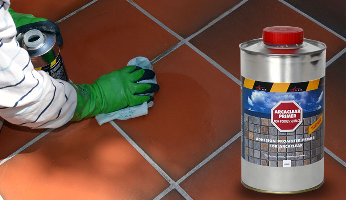 waterproof resin arcaclear primer non porous surface to be applied with Arcaclear resin