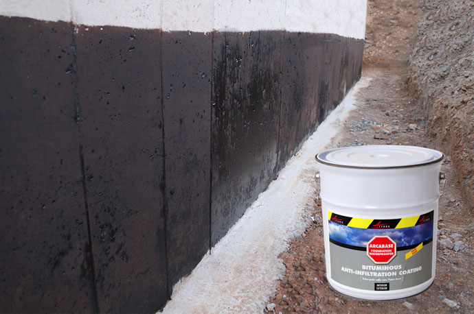 Basement foundation waterproofer liquid membrane