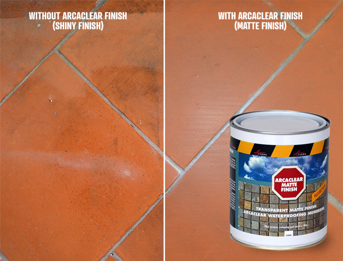 Arcaclear matte finish to render a matte finish on Arcaclear resin or Arcaclear traffic resin