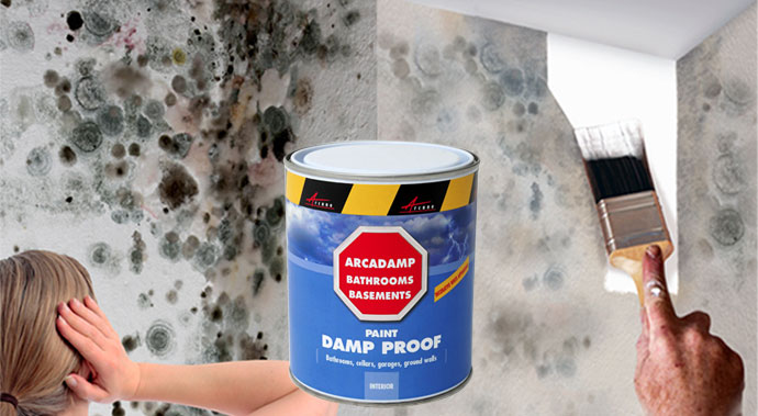 stop damp with arcadamp easy to use damp proof paint
