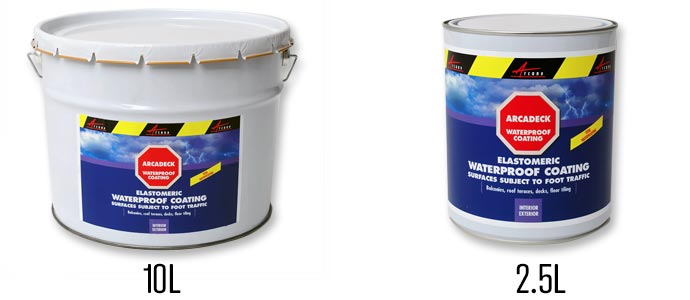 Arcadeck Waterproof Membrane for Terrace available in 2.5 l and 10 l