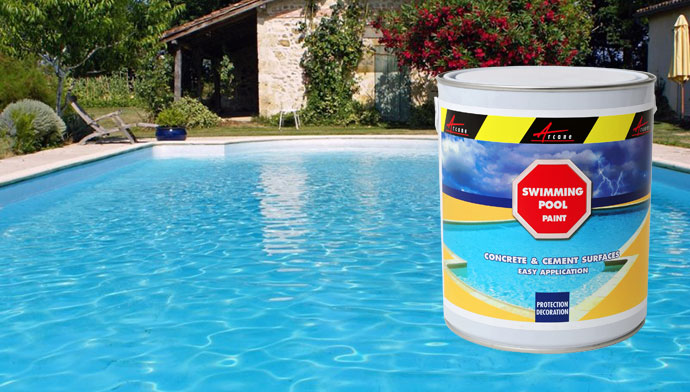 Swimming pool paint, pond paint, basin paint resin acrylic concrete cement highest resistance