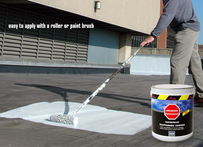 Waterproof paint easy to apply as a paint