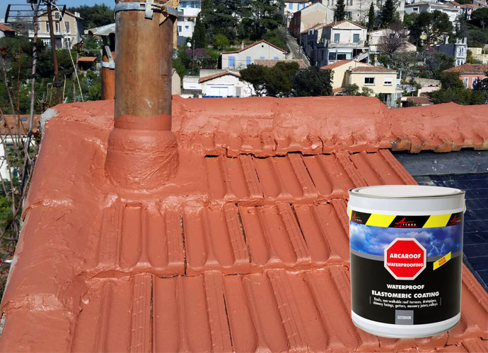 Arcaroof waterproof tile stop water ingress