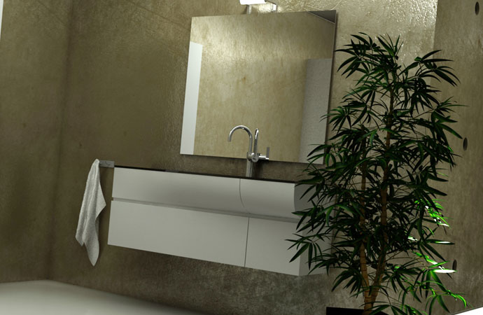 Decorative microscreed beton cire Arcascreed bathrooms and showers kit applied on wall