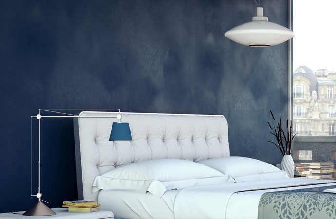 Arcascreed waxed concrete interior wall bedroom