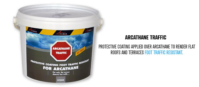 Protective and resistant coating to render Arcathane foot traffic resistant