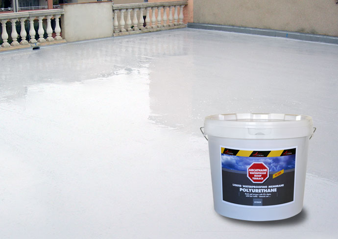 Waterproof liquid coating for flat roof, terrace, balcony : Arcathane